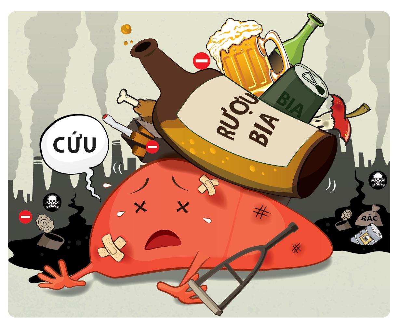 Uống nhiều rượu dễ bị ung thư các cơ quan hô hấp và đường tiêu hóa