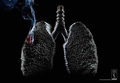 Sự tàn phá khủng khiếp của thuốc lá gây ra bệnh ung thư phổi