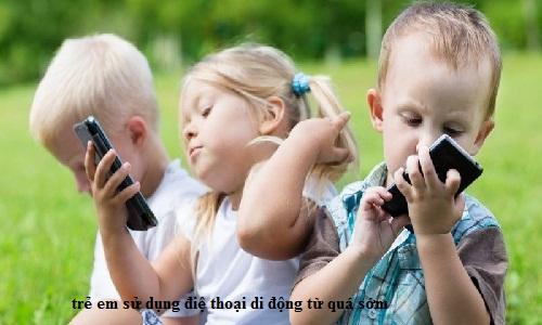 trẻ em dùng điện thoại di động bị ung thư não