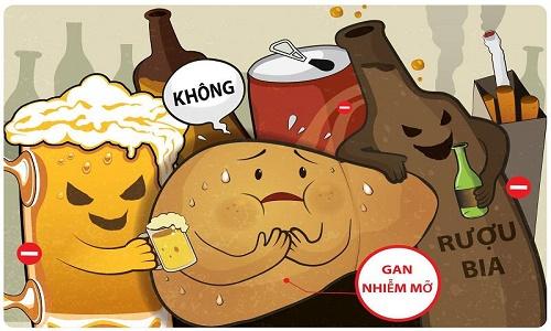 Bỏ rượu bia là cách tốt nhất để phòng tránh và điều trị gan nhiễm mỡ