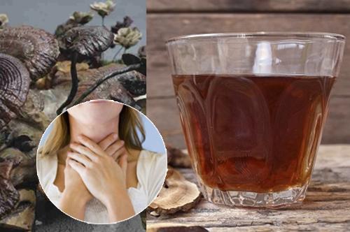 Uống nấm lim xanh hỗ trợ điều trị ung thư vòm họng.