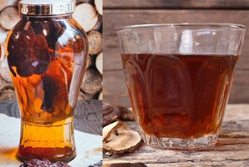 Tác dụng nấm lim xanh ngâm rượu: Bồi bổ, tăng cường sức khỏe.