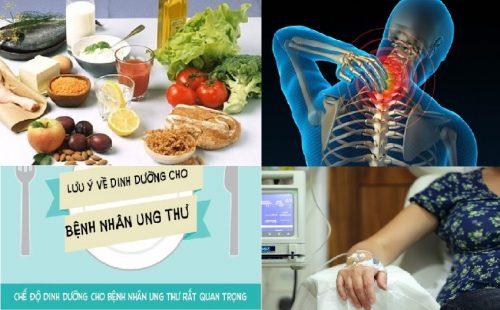 Thực đơn dinh dưỡng hỗ trợ điều trị ung thư xương